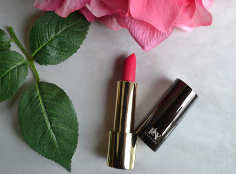 Brazilian Carnaval lipstick by Plum & York, pink lipstick, makeup for olive to darker skin