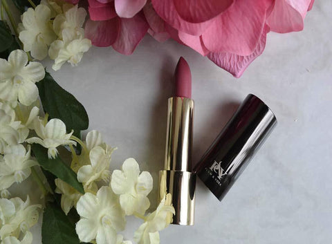 Dubai Dust Rose So Kissable lipstick by Plum & York, makeup for olive to darker skin tones