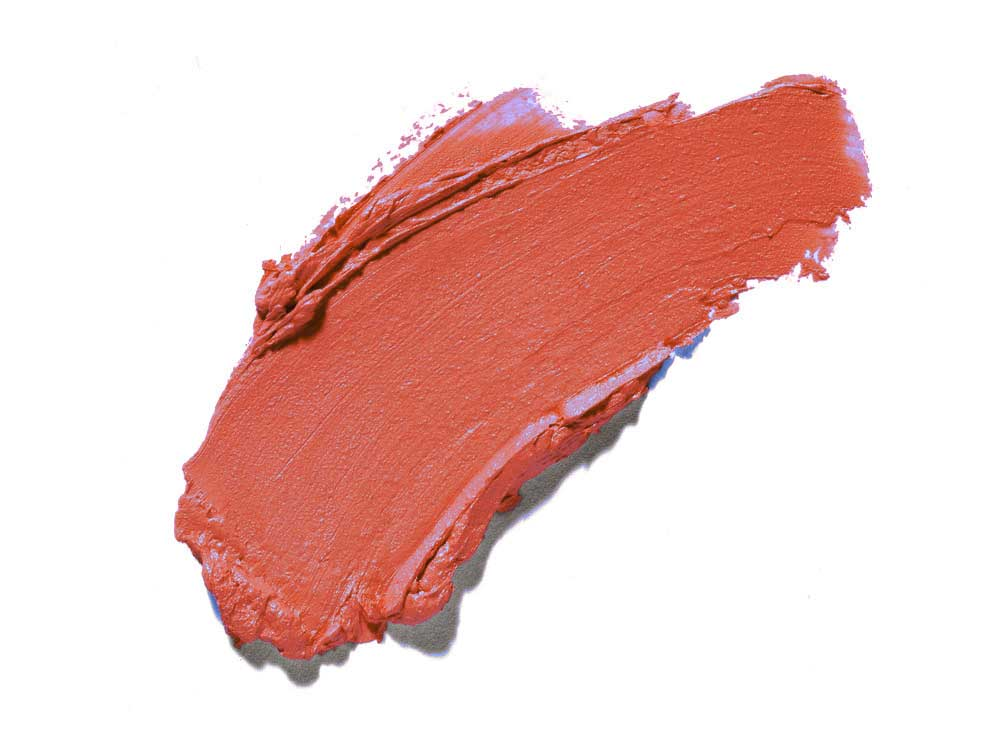 La Isla Naranja So Kissable lipstick by Plum & York, coral lipstick, makeup for olive to darker skin tones
