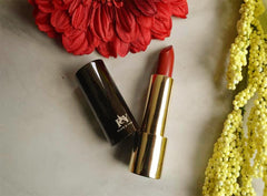 Mexican Fiesta Roja lipstick by Plum & York, red lipstick, makeup for olive to darker skin