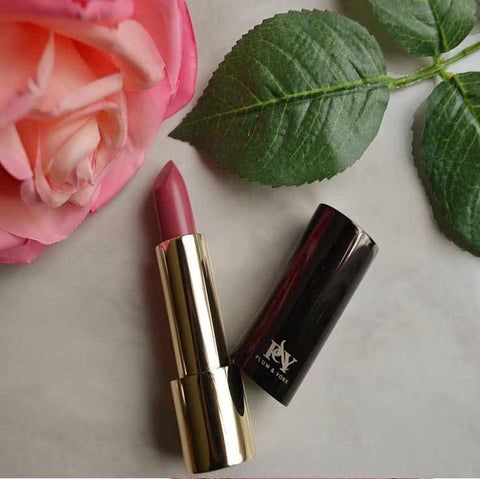 Miami Sunset Breeze lipstick by Plum & York, pink lipstick, makeup for olive to darker skin
