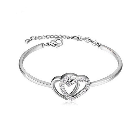 Double Heart Bangle™ - e-Schmuck
