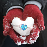 Exquisite Blue Heart™ - e-Schmuck