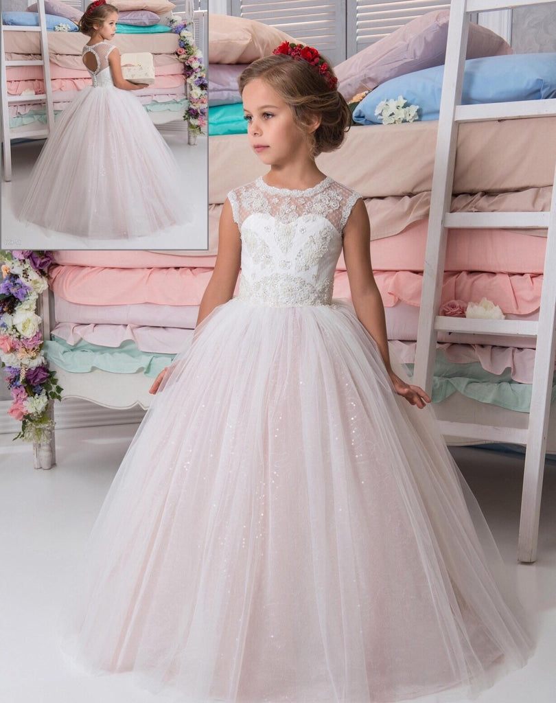 Cute Sparkling Flower Girl Ball Gown Dress F9700 – Brides By Us ...