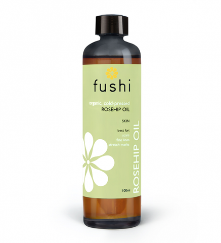 Fushi Organic Organic Rosehip (Άγριο Τριαντάφυλλο) Seed Oil Virgin 100ml Fresh-Pressed, Min Vit E - mykarma.gr
