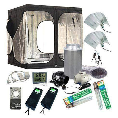Large Grow Tent Kit (2.4m x 1.2m)-Tidy Hydro
