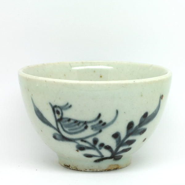 "Hand Painted Antique Style Cup ""Songbird"""