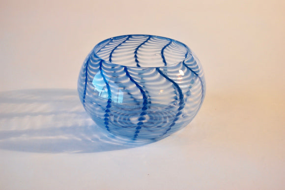 Blue Striped Bowl