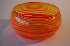 Yellow and Orange Striped Bowl