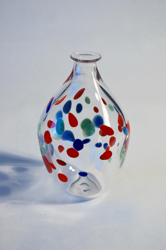 Multi Colored Polka Dot Vase