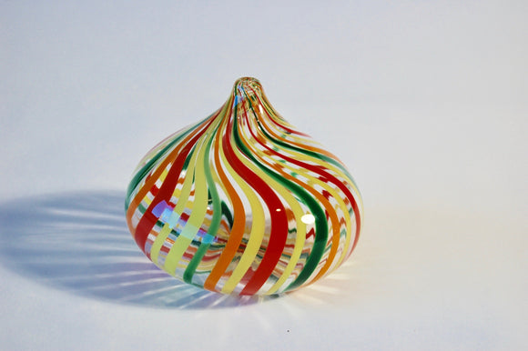 Multi Colored Striped teardrop Vase