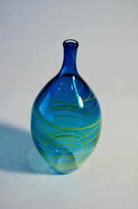 Blue with Yellow Wrap Vase
