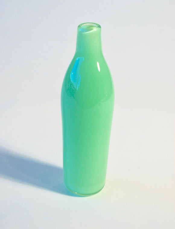 Light Apple Green Milk Bottle Vase