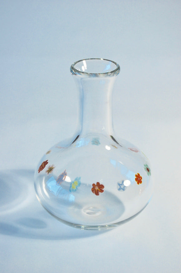 Clear and Millefiore Decanter