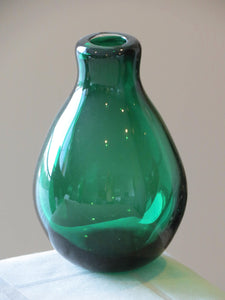 Emerald Green Folded Lip Vase