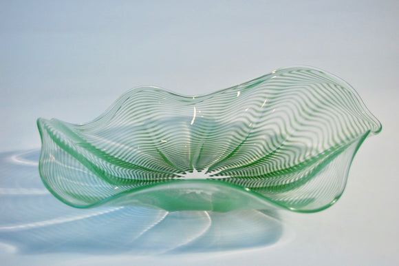 Green Striped Hankerchief Platter