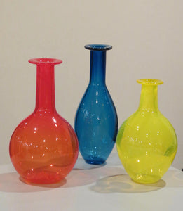 Red/Blue/Yellow Apothecary Vase Set #3