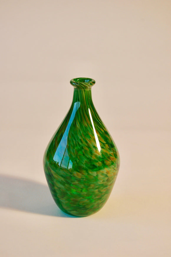 Mottled Emerald Green Vase