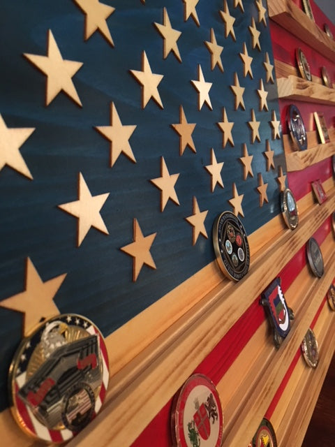 Challenge Coin Flag Display