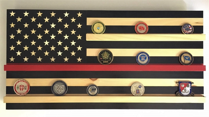 First Responder Challenge Coin Display Flag