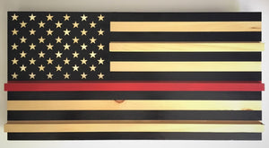 The Fire Fighter Thin Red Line Flag