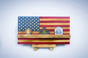 """Mini"" Challenge Coin Display Flag"