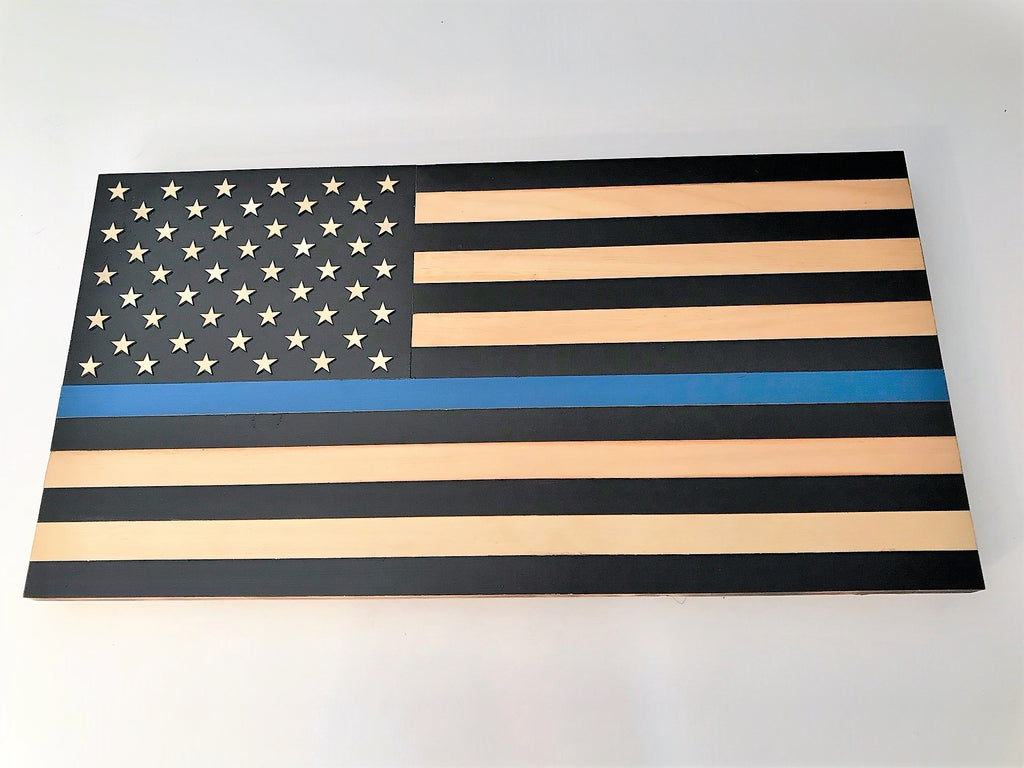 """Thin Blue Line"" Police Flag"