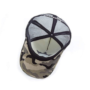 Boho Beach Hut Baseball Caps Light Camo White Camo Star Embroidery Mesh Baseball Cap