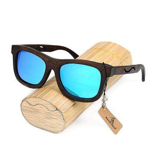 Boho Beach Hut Men's Sunglasses Box 2 BOBO BIRD Wrap Style Wooden Sunglasses with Polarized Lenses