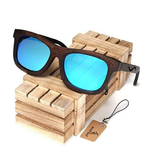 Boho Beach Hut Men's Sunglasses Box 3 BOBO BIRD Wrap Style Wooden Sunglasses with Polarized Lenses