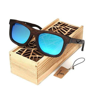 Boho Beach Hut Men's Sunglasses Box 4 BOBO BIRD Wrap Style Wooden Sunglasses with Polarized Lenses