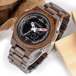 BOBO BIRD Wooden Watch Dual Display