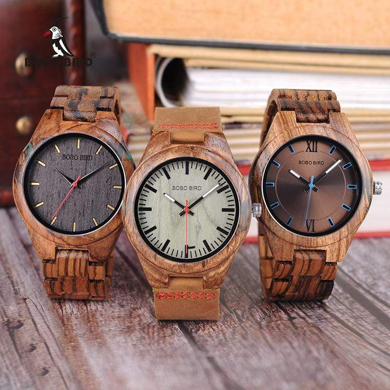Boho Beach Hut Men's Wooden watches 1 BOBO BIRD Wooden Quartz Watch