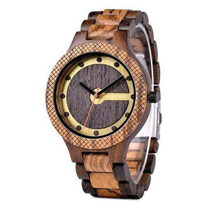 Boho Beach Hut Men's Wooden watches Brown BOBO BIRD Designer Wooden Watch Quartz