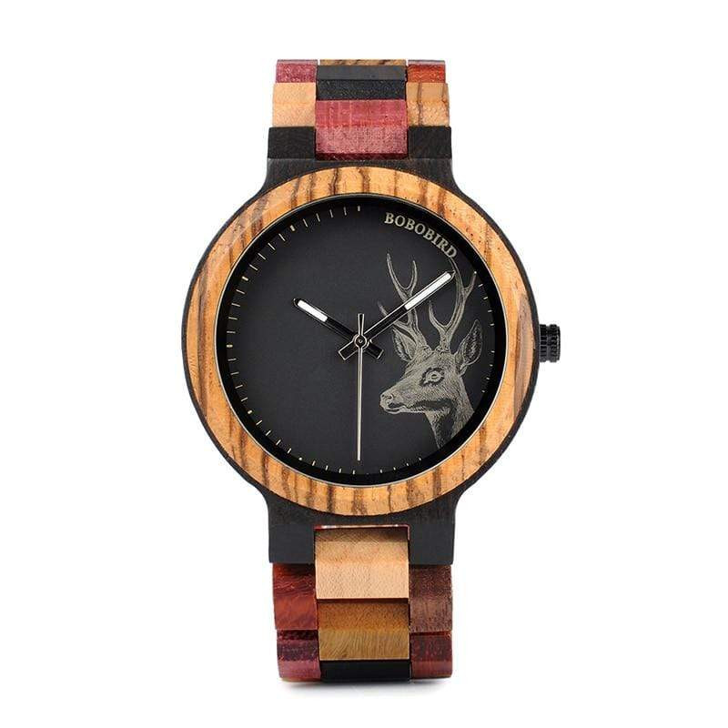 Boho Beach Hut Men's Wooden watches Deer BOBO BIRD Deer Collection Wooden Watch