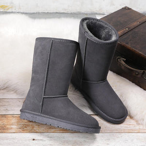 Boho Beach hut Mid-Calf Boots, winter boots, fur boots, high boots, boho boots Faux Fur Waterproof Winter Boots