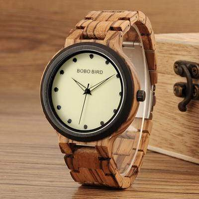 Boho Beach Hut Quartz Watches Zebra BOBO BIRD Wooden Watch Quartz