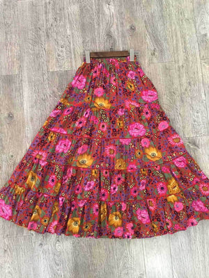 Boho Beach Hut Skirt, Top Skirt / S Boho Floral Skirt & Top Collection