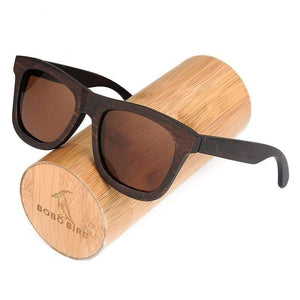 Boho Beach Hut Sunglasses Unisex Gray BOBO BIRD Wooden Sunglasses- Polarized Lenses With Wooden Gift Box