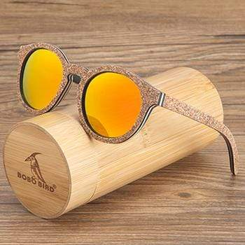 Boho Beach Hut Sunglasses Unisex Yellow BOBO BIRD Wooden Sunglasses- Polarized Lenses Cat Eye Frames
