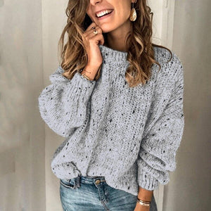 Boho Beach Hut Sweater, Clearance Gray / S Sexy Off Shoulder Sweater