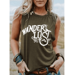 Boho Beach Hut Tank Tops Green / S Wanderlust Tank