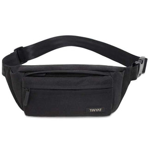Boho Beach Hut Waist Packs Black Super Light Adjustable Fanny Pack