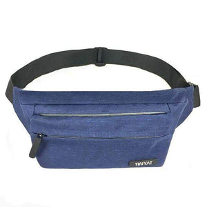 Boho Beach Hut Waist Packs Blue Super Light Adjustable Fanny Pack