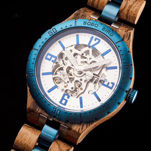 Boho Beach Hut Watches Unisex BOBO BIRD Wooden Quartz Watch with Steel Fashion Dial