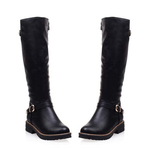 Boho Beach Hut Women's Footwear Black / 4 Fashion Boots Mid Calf- 3 Colors