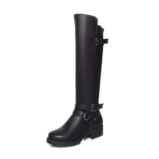 Boho Beach Hut Women's Footwear Black Plush / 4 Waterproof Boots Knee High Equestrian- 4 Colors