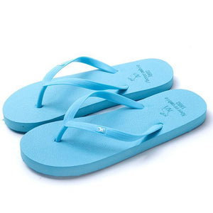 Boho Beach Hut Women's Footwear Blue / 5 Beach Flip Flops 8 Colors