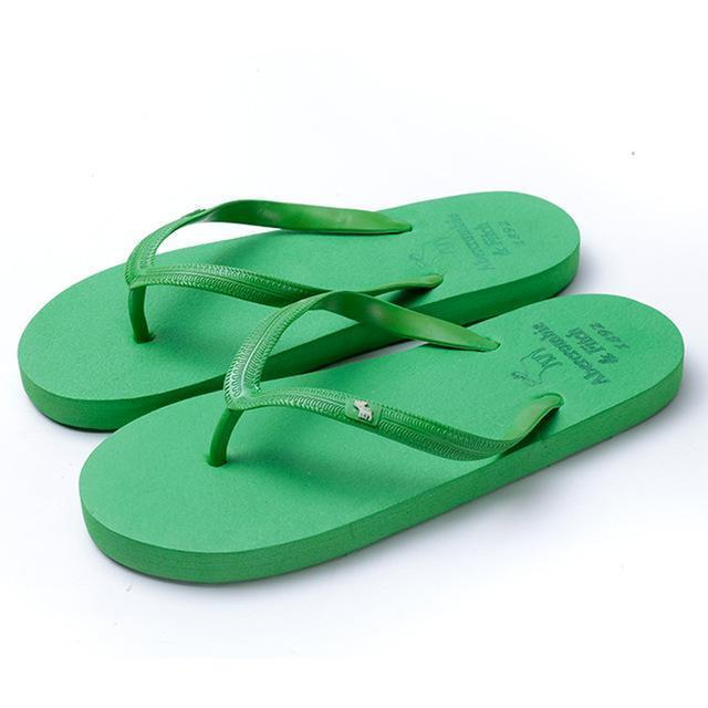 Boho Beach Hut Women's Footwear Green / 5 Beach Flip Flops 8 Colors