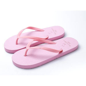 Boho Beach Hut Women's Footwear Pink / 5 Beach Flip Flops 8 Colors